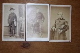 3 Cdv Militaire  Second Empire Dont Cavalerie  Garde St Cyrien - Guerra, Militares