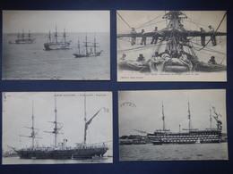LOT DE 4 CARTES POSTALES DE LA MARINE NATIONALE 1910-1920 - Otros