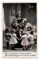 CPA. JOYEUX NOËL.pere-noël. Enfants.belle Poupée.doll.jouets.toys.                               .E.62 - Santa Claus