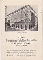 """Roma - Palazzo Simonetti   """" Pensione White - Fabrello   """" Via Vittoria Colonna - Adesivi Di Alberghi"""