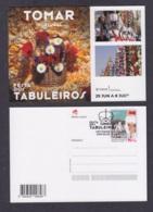 19.- PORTUGAL 2019 POSTAL STATIONERY - TABULEIROS FEST - TOMAR PORTUGAL - Enteros Postales
