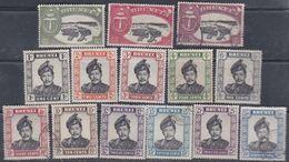 Brunei N° 84 / 97 O : Série Courante, Les 14 Valeurs Oblitérées (quelques Timbres  Trace De Charnière) Sinon TB - Brunei (...-1984)