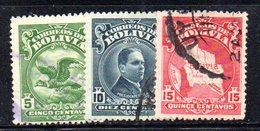 APR1834 - BOLIVIA 1928 , Serie Yvert N. 161/162  Usata  (2380A) - Bolivia