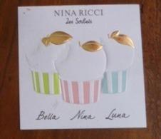 NINA RICCI RARE CARTE LES SORBETS BELLA NINA ET LUNA - Modern Miniatures (from 1961)