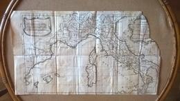 Carte De L'italie  Avril 1739 Pour L'expedition  Intelligence  De L'histoire Rollin Par Le  Sieur  D'anville  Geographe - Documentos Históricos