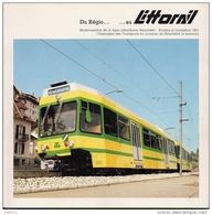 NEUCHATEL (SUISSE) Ligne Du Littoral LITTORAIL Neuchatel - Boudry - Cortaillod Edité En Juin 1981 - Chemin De Fer & Tramway