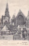 Amsterdam Oude Kerk # 1907 Levendig Volk Op Oudekerksbrug    592 - Amsterdam