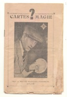 """Petit Livret Avec """" TOURS DE CARTES """"  Magie, Prestidigitation,..par Le Magicien Gaston Corbier Dit """"RIDERSON """".(fr81) - Cartes à Jouer"""