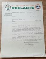 FACTURE A ENTETE  BRASSERIE Et MALTERIE ROELANTS 1961 - Belgique