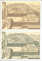 VATICANO 2 ENTERO POSTAL 1574 IL CORTILE DEL BELVEDERE - Monumentos