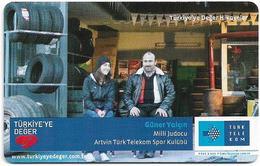 Turkey - TT (chip) - Turkiye'ye Deger Hikayeler - C-280 - Güner Yalçın, 4₤, 2011, 50.000ex, Used - Turkey