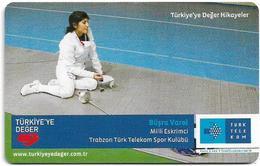 Turkey - TT (chip) - Turkiye'ye Deger Hikayeler - C-282 - Büşra Varol, 4₤, 2011, 50.000ex, Used - Turkey