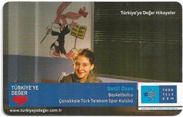 Turkey - TT (chip) - Turkiye'ye Deger Hikayeler - C-284 - Betül Özen, 4₤, 2011, 50.000ex, Used - Turkey