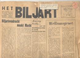 "Petit Journal "" Le BILLARD ""  "" Het BILJART ""  Du 15 Septem Bre 1950.- Bilingue Fr // Nl  - 4 Pages (jm) - Sport"
