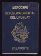PASSPORT - PASSEPORT - PASAPORTE- PASSAPORTO  - URUGUAY - MERCOSUR -  MANY VISAS - UNITES STATES - Documentos Históricos