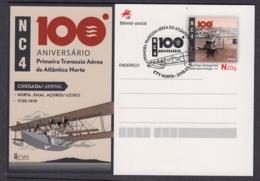 24.- PORTUGAL 2019 POSTAL STATIONERY - II CENTENARY SEAPLANE NC4 CROSSING - Enteros Postales