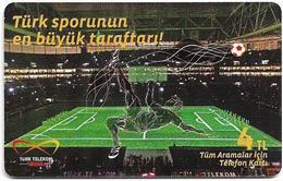 Turkey - TT (chip) - TT Arena - C-270 - Türk Sporunun En Büyük Tarftarı!, 2011, 4₤, 50.000ex, Used - Turkey