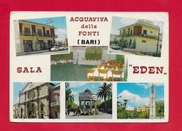 CARTOLINA NV ITALIA - ACQUAVIVA DELLE FONTI (BA) - Sala Eden - Vedutine Multivue - 10 X 15 - Bari