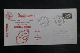 AFARS ET ISSAS - Enveloppe 1er Vol Djibouti / La Réunion En 1975 - L 34837 - Afars Et Issas (1967-1977)