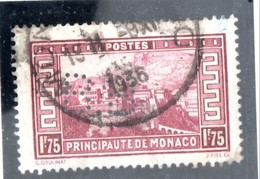 MONACO -- Timbre Perforé Perfin -- B B  15-15 -- 1 F.75  Lie De Vin Palais Princier - Errors And Oddities