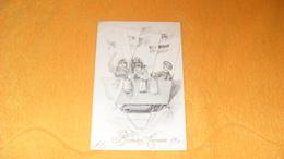 CARTE POSTALE ANCIENNE CIRCULEE DE 1909.../ BONNE ANNEE..SERIE 822..NACELLE BALLON ..CACHET + TIMBRE - Nouvel An