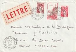 """Oblitération Manuelle : """"40 BISCARROSSE AIR"""" Du 18-06-1980 (affranchissement Multiple) - Poststempel (Briefe)"""