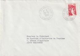 """Oblitération Manuelle : """"16 COGNAC AIR"""" Du 22-09-1980 - Poststempel (Briefe)"""