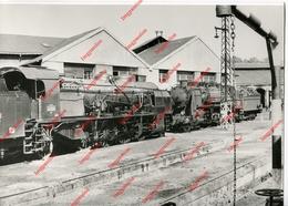 Train - Locomotive - Photo Argentique - SNCF 141E Et 141B Au Départ De Capdenac 1957 - Treni