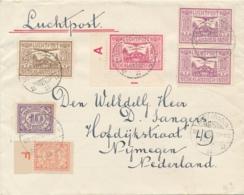 Nederland Indië / Nederland - 1930 - 6 Zegels Op 6e Terugvlucht Van Koetaradja Naar Nijmegen - Nederlands-Indië