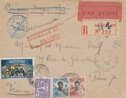 Indochine / Nederland Indië - 1929 - R-cover Van Saigon - PAR MALLE AERIENNE HOLLANDAISE Naar Paris / France - Niederländisch-Indien