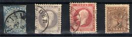 Noruega Nº 1, 3, 5, 10. Año Nº 1855/63 - Norvège