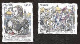 TIMBRES FRANCAIS .  OBLITERATION RONDE. ANNEE 2016.. GDES HEURES DE L'HISTOIRE.N°5067/6068 TBE.SCAN - France
