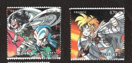 TIMBRES FRANCAIS .  OBLITERATION RONDE. ANNEE 2016.. BANDE DESSINEE MANGA..LA PAIRE  N°5081/5082. TBE SCAN - France