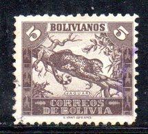 APR1842 - BOLIVIA 1939 ,  Yvert N. 239 Usato   (2380A) Giaguaro - Bolivia