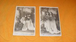 LOT DE 2 CARTES POSTALES ANCIENNES CIRCULEES DE 1903.../ LE CULTE DU GUI...MLLE SPINDLER ROBINNE...CACHETS + T - Artistes