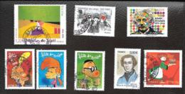LOT DE HUIT TIMBRES OBLITERATION RONDE..ANNEE 2005   TBE..N°3751/3752/3753-3762/3780/3791/3798/3799..SCAN - France
