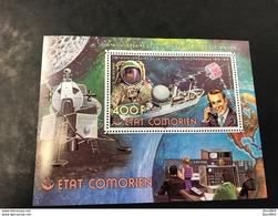 COMORES 1976 1 Bloc Neuf ** BF 5C Satellite Et Liaison Téléphonique Comoros Komoren - Comores (1975-...)
