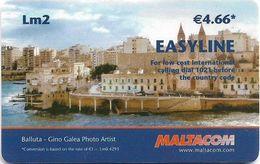 Malta - Easyline-Maltacom - Balluta Bay - Remote Mem. 2₤, 200.000ex, Used - Malte