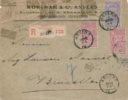411/29 - Emission ANVERS EXPO 1894 - Ensemble De 3 Lettres Avec TP 68 , 69 Et 70 - 1894-1896 Esposizioni