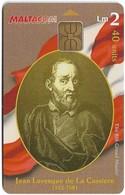 Malta - Maltacom - Maltese Grand Masters - J.L. De La Cassiere, 40Units, 20.000ex, Used - Malta