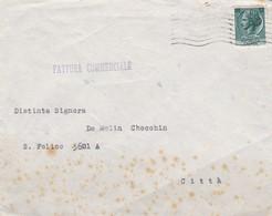 BUSTA VIAGGIATA - VENEZIA - GALLERIA D' ARTE CESANA -VENEZIA  - VIAGGIATA PER VENEZIA CITTA' - 6. 1946-.. Repubblica