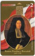 Malta - Maltacom - Maltese Grand Masters - Ramon Perellos Y Roccafull, 40Units, 20.000ex, Used - Malta