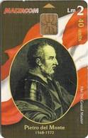Malta - Maltacom - Maltese Grand Masters - Pietro Del Monte, 40Units, 20.000ex, Used - Malta