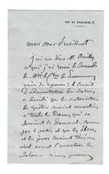 Georges Boulanger (1837 - 1891) LAS GENERAL AUTOGRAPHE AUTOGRAPH /FREE SHIP. R - Autogramme & Autographen