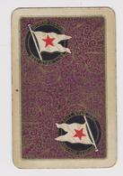 DOS Cartes à Jouer Classique (2 De Trèfle) - PUB  RED STAR LINE - Antwerp  New-York Compagnie Maritime Disparue En 1935 - Kartenspiele (traditionell)