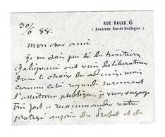 Georges Boulanger (1837 - 1891) CARTE DE VISITE GENERAL AUTOGRAPHE AUTOGRAPH /FREE SHIP. R - Autogramme & Autographen