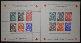 Poland 1945 Dachau, Charity Issue, Perf & Imperf, Fisher 5xA, 5yB, CV 85 EUR, Mint, No Gum As Issued - 1939-44: 2. WK