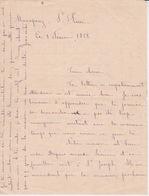 974 - ILE DE LA REUNION - LETTRE MANUSCRITE DE 1918 SUR 4 PAGES  ECRITE DE MANAPANY PRES DE ST PIERRE - Documentos Históricos