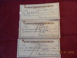 Lot De Chèques Ou Billets à Ordre Deposés Par La Princesse Leonida Bagratian - Monnaies & Billets