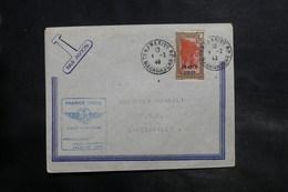 MADAGASCAR - France Libre , Enveloppe 1er Vol Madagascar / A.E.F. En 1943, Affranchissement Plaisant - L 34845 - Madagascar (1889-1960)